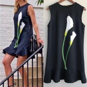 NWOT Victoria Beckham Calla Lily Dress XS